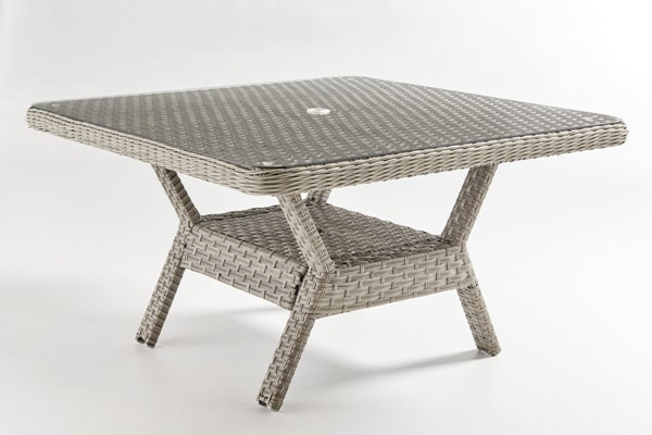 South Sea Mayfair Pebble Gray Glass Top Dining Chat Table SSEA-77817