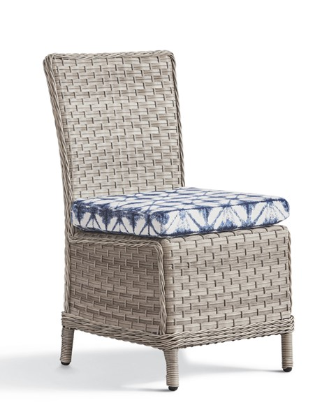 South Sea Mayfair Pebble Gray Blue Dining Side Chair SSEA-77820-D33028-2