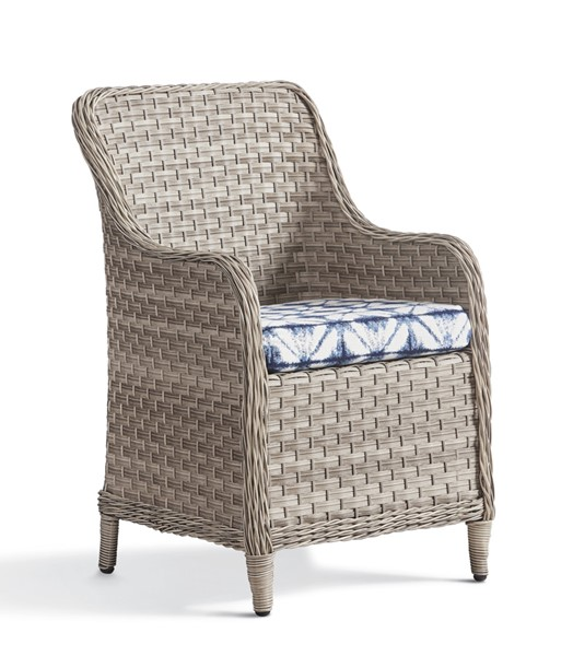 South Sea Mayfair Pebble Gray Blue Dining Arm Chair SSEA-77821-D33028-2