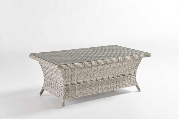South Sea Mayfair Pebble Gray Glass Top Coffee Table SSEA-77844