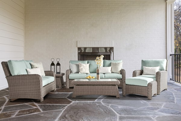 South Sea Saint Tropez Brown Green 3pc Outdoor Seating Set SSEA-79303-STN-OUTDOOR-LR-S-VAR