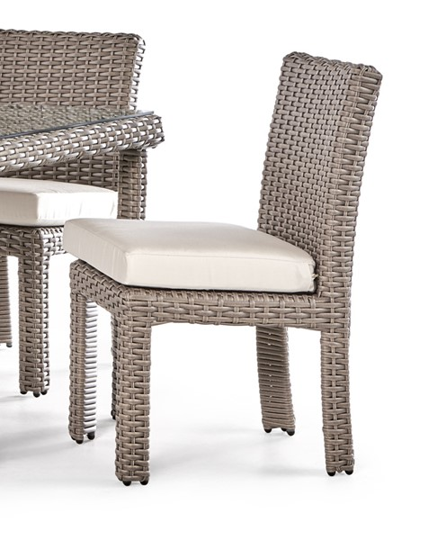 South Sea Saint Tropez Stone Gray Canvas Dining Side Chair SSEA-79320-STN-D6311