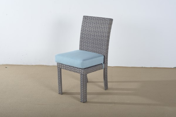 South Sea Saint Tropez Stone Gray Blue Dining Side Chair SSEA-79320-STN-D33028-2