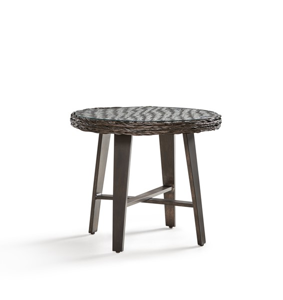 South Sea Grand Isle Brown Gray Side Table SSEA-77443-OUTDOOR-ET-VAR