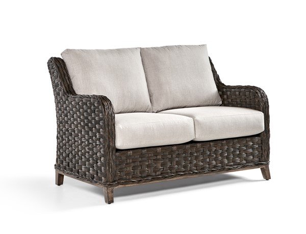 South Sea Grand Isle Brown Canvas Gray Green Cushion Loveseat SSEA-77402-DKC-OUTDOOR-LS-VAR