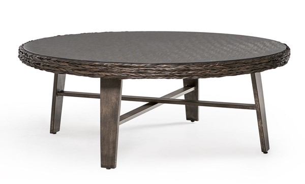 South Sea Grand Isle Brown Round Coffee Table SSEA-77445-DKC