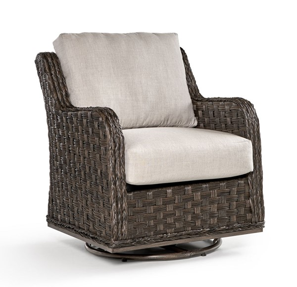 South Sea Grand Isle Brown Canvas Swivel Glider SSEA-77405-DKC-D6311