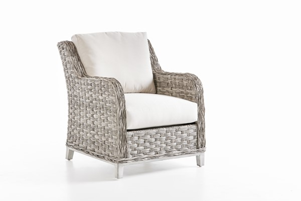 South Sea Grand Isle Gray Canvas Cushion Patio Chair SSEA-77401-SGR-D6311