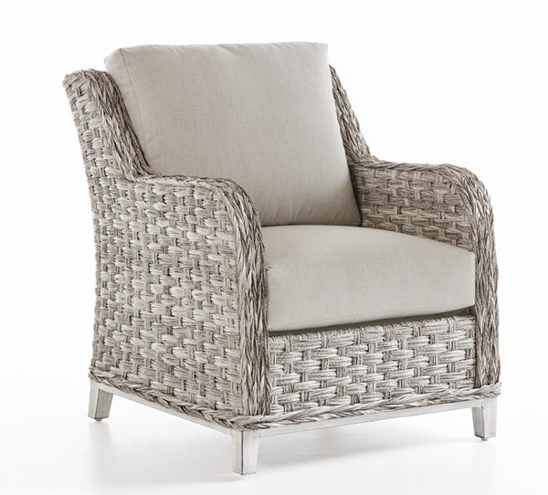 South Sea Grand Isle Gray Silver Cushion Patio Chair SSEA-77401-SGR-D33010-2