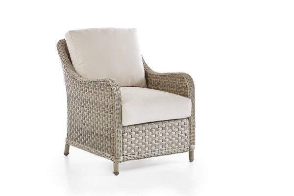 South Sea Mayfair Pebble Gray Canvas Chair SSEA-77801-D6311