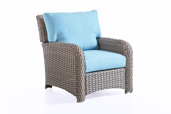 South Sea Saint Tropez Tobacco Brown Blue Chair SSEA-79301-STN-D33028-2