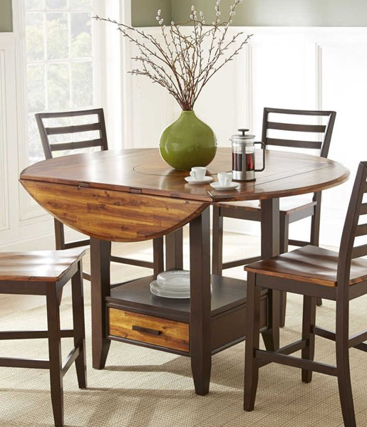 Steve Silver Abaco Cherry Drop Leaf Counter Table The