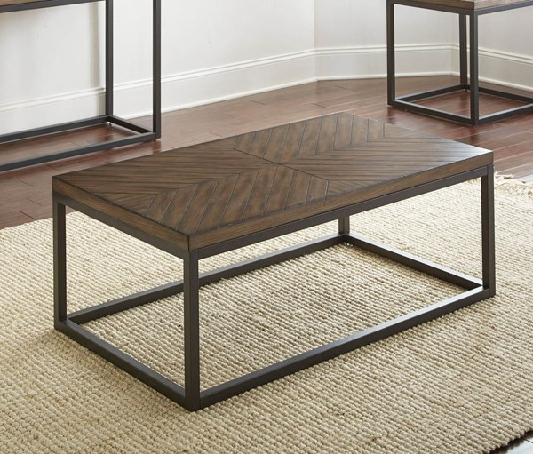 Steve Silver Aleka Dark Oak Veneer Cocktail Table SSF-AK100C