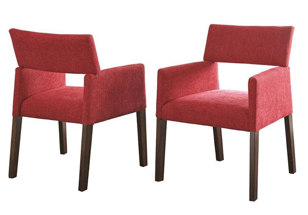 2 Steve Silver Amalie Red Solid Hardwood Side Chairs SSF-AL350SR