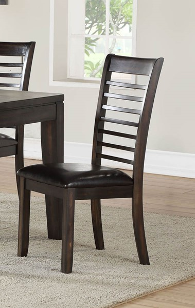 2 Steve Silver Ally Antique Charcoal Dining Side Chairs SSF-AS700SC