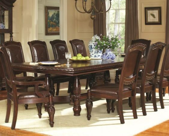 Steve Silver Antoinette 24 Inch Leaf Ped Table SSF-AY200T