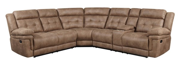 Steve Silver Anastasia Cocoa Reclining 3pc Sectional SSF-AT8003PCSECT