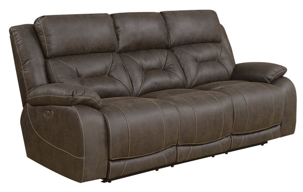 Steve Silver Aria Saddle Brown Power Recliner Sofa SSF-AA950SBN