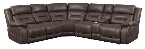 Steve Silver Aria Saddle Brown Fabric 3pc Reclining Sectional SSF-AA800BN3PCSECT