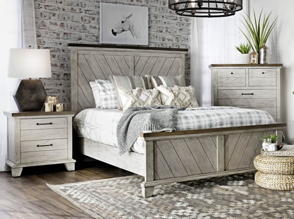 Steve Silver Bear Creek White Oak 2pc Bedroom Set with Queen Bed SSF-BC900-Q-BR-S1