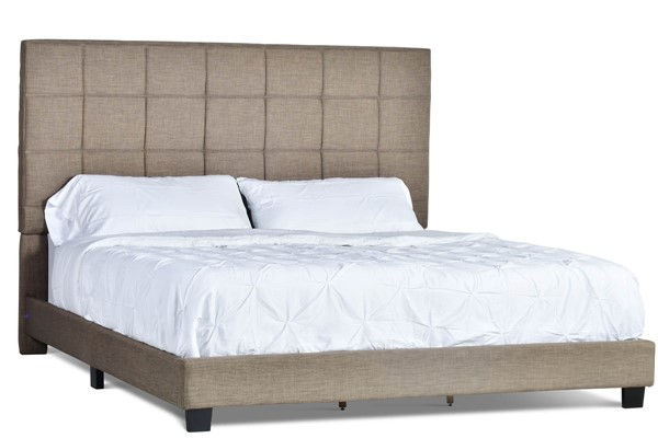 Steve Silver Brooklyn Nickel Upholstered King Bed SSF-RE9003SS-142NK