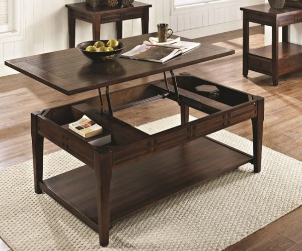 Steve Silver Crestline Lift Top Cocktail Table with Casters SSF-CL200CL