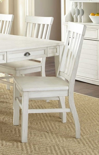 2 Steve Silver Cayla Antique White Side Chairs SSF-CY400SW