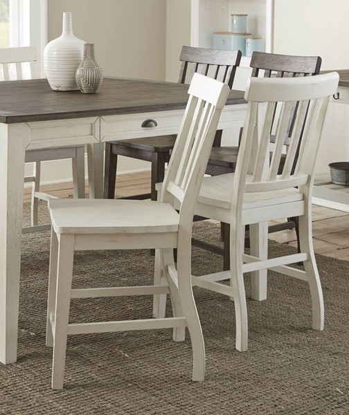 2 Steve Silver Cayla White Counter Height Chairs SSF-CY700CCW