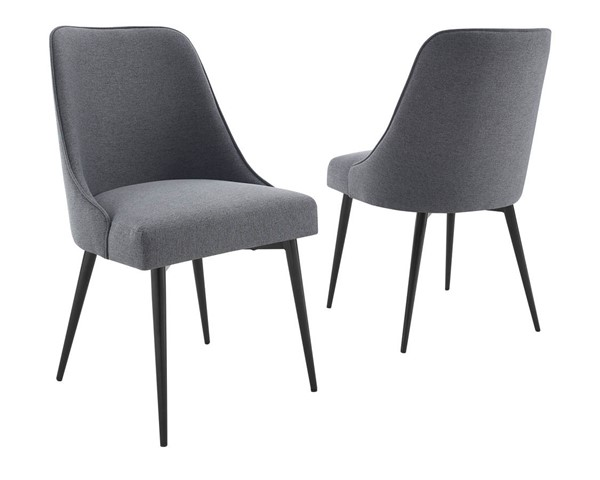 Steve Silver Colfax Charcoal Fabric Side Chairs SSF-CF450S-DR-CH-VAR