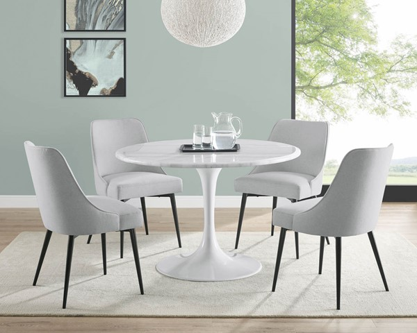 Steve Silver Colfax White Stone 5pc Dining Room Set SSF-CF450WDB-DR-S1