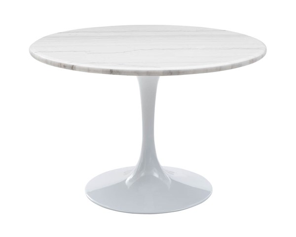 Steve Silver Colfax White Marble Dining Table SSF-CF450WDBMT