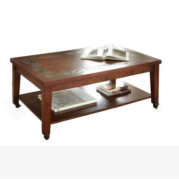 Steve Silver Davenport Slate Cocktail Table with Locking Casters SSF-DA150C