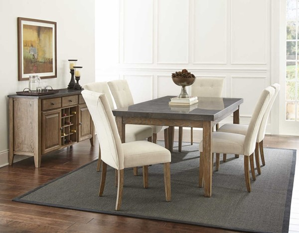 Steve Silver Debby Fabric 5pc Dining Room Set SSF-DB500-DR-S2