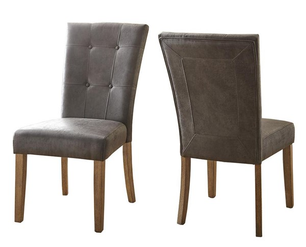2 Steve Silver Debby Grey Fabric Side Chairs SSF-DB550S