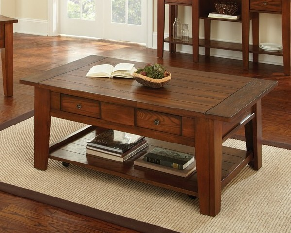 Steve Silver Desoto Oak Cocktail Table with Casters SSF-DE200CAS