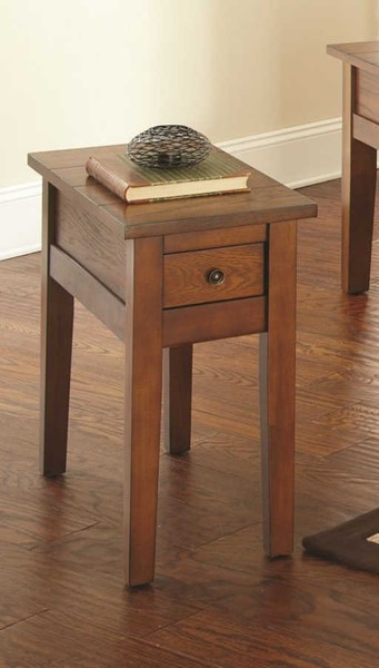 Steve Silver Desoto Oak Chairside End Table SSF-DE250EC