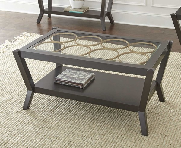 Steve Silver Doreen Ebony Cocktail Table SSF-DR300C