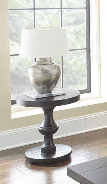 Steve Silver Dory Ebony Round End Table SSF-DY200ER
