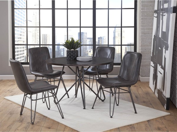 Steve Silver Derek Gray 5pc Dining Room Set SSF-DK4505pc