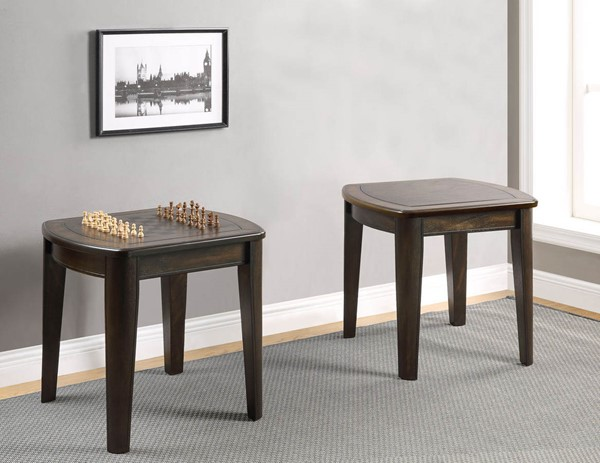 Steve Silver Diletta Wood Game End Table with Chessboard SSF-DL250GE
