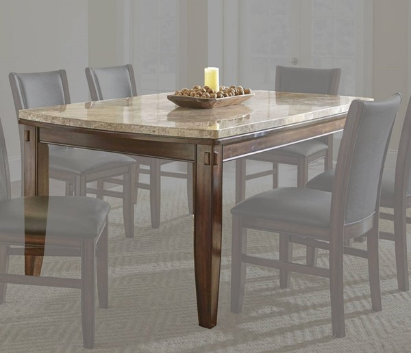 Steve Silver Eileen White Marble Top Table SSF-EE500T