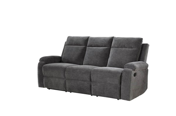 Steve Silver Empire Grey Fabric Recliner Sofa SSF-EP850SG