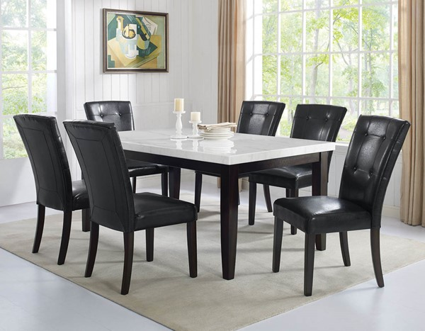 Steve Silver Francis Dark Cherry White 7pc Dining Room Set SSF-FC500MTL7PC