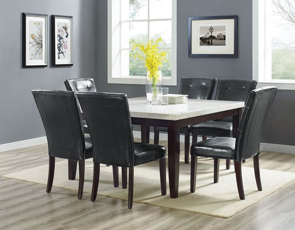 Steve Silver Francis Dark Cherry White Square 7pc Dining Room Set SSF-FC5454MT500TL7PC