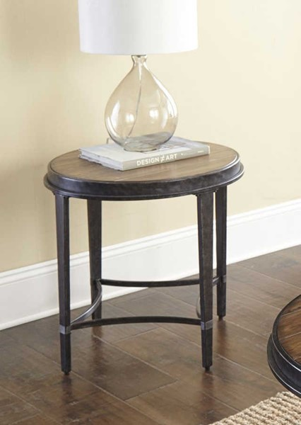 Steve Silver Gianna Black Driftwood Round End Table SSF-GN200E