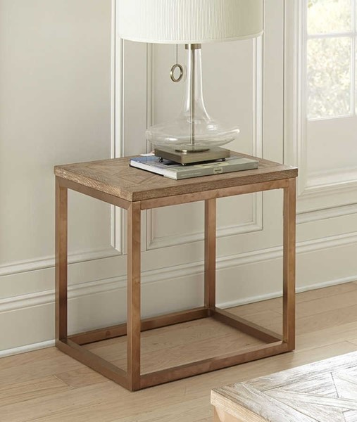 Steve Silver Gino Driftwood Rose Gold End Table SSF-GN700E