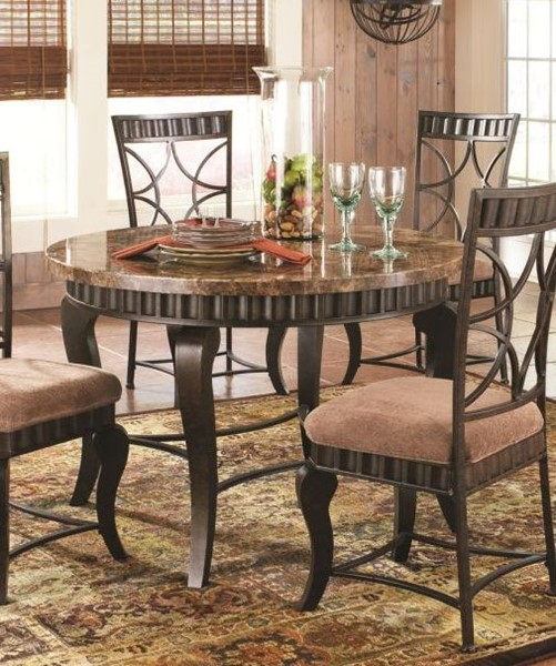 Steve Silver Hamlyn Marble Top Dining Table SSF-HL500T