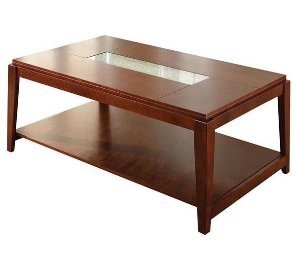 Steve Silver Ice Cracked Glass Insert Cocktail Table SSF-IE200C