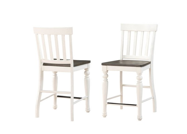2 Steve Silver Joanna Ivory Charcoal Counter Height Chairs SSF-JA700CCN