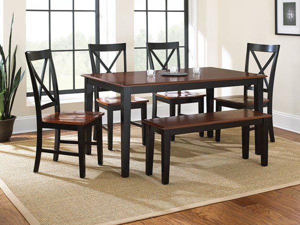 Steve Silver Kingston Oak Black 6pc Dining Set SSF-NT36606PC